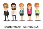 group of business men and women ... | Shutterstock .eps vector #588909665