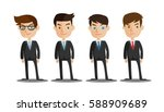 group of business men   working ... | Shutterstock .eps vector #588909689