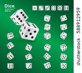 dice gambling template. vector...