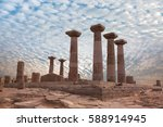 ruined athena temple in assos ... | Shutterstock . vector #588914945