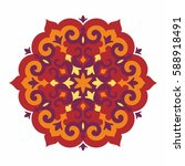 ornamental element in oriental... | Shutterstock .eps vector #588918491