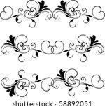 vector design element | Shutterstock .eps vector #58892051
