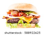 a big and tasty bacon... | Shutterstock . vector #588922625