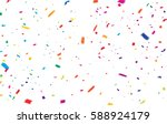 colorful celebration background ... | Shutterstock .eps vector #588924179