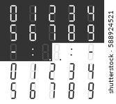 digital display numbers and... | Shutterstock .eps vector #588924521