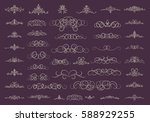 vintage decor elements and... | Shutterstock . vector #588929255
