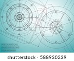 mechanical engineering drawings.... | Shutterstock .eps vector #588930239