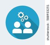 teamwork brainstorming flat icon | Shutterstock .eps vector #588933251