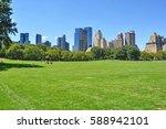tall buildings seen from... | Shutterstock . vector #588942101