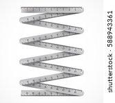 metallic folding ruler.... | Shutterstock .eps vector #588943361