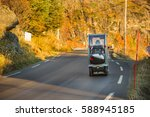 a compact electric vehicle... | Shutterstock . vector #588945185