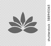lotus flower vector icon eps 10.... | Shutterstock .eps vector #588945365