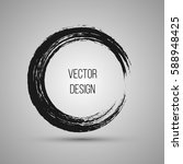 hand drawn circle shape. label  ... | Shutterstock .eps vector #588948425