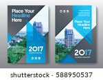 blue color scheme with city... | Shutterstock .eps vector #588950537