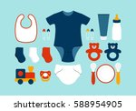 baby boy  products | Shutterstock .eps vector #588954905
