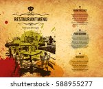 restaurant menu design. vector... | Shutterstock .eps vector #588955277