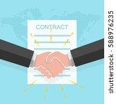 business handshake on the... | Shutterstock .eps vector #588976235
