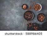 chocolate cake  chocolate... | Shutterstock . vector #588986405