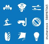 set of 9 fun filled icons such... | Shutterstock .eps vector #588987065