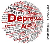 concept conceptual depression...   Shutterstock . vector #589002365