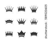 vector illustration of crown... | Shutterstock .eps vector #589020605