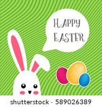 easter bunny say happy easter...   Shutterstock .eps vector #589026389