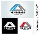 mountain logo design template... | Shutterstock .eps vector #589026659