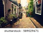 Netherlands Volendam Narrow Old Street - Fine Art prints