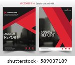 red black triangle vector... | Shutterstock .eps vector #589037189