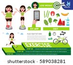 lose weight infographic element ... | Shutterstock .eps vector #589038281