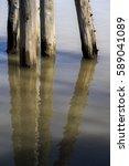 Old Ocean  River Wooden Pier...