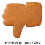 gingerbread dislike cookie...   Shutterstock . vector #589041281