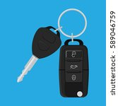 car key and of the alarm system. | Shutterstock . vector #589046759