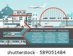transport flat illustration... | Shutterstock .eps vector #589051484