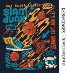 basketball ball vector design...   Shutterstock .eps vector #589054871