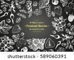 berries hand drawn  vector... | Shutterstock .eps vector #589060391
