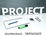 project   text concept with... | Shutterstock . vector #589065605