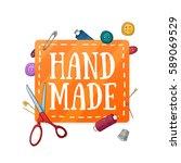 banner design template hand... | Shutterstock .eps vector #589069529