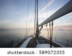 Luxury Sail Boat Sailing In Se...