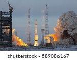 baikonur  kazakhstan   11... | Shutterstock . vector #589086167
