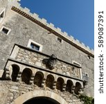 Small photo of Famous ancient castle of Monteroduni, Isernia Italy