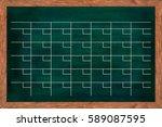 chalkboard calendar for home or ... | Shutterstock . vector #589087595