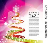 vector xmas background | Shutterstock .eps vector #58909264
