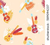 vector seamless pattern with... | Shutterstock .eps vector #589094237