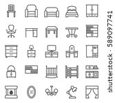 linear web icon set of... | Shutterstock .eps vector #589097741
