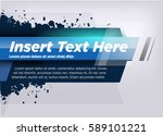 modern layout title design blue ... | Shutterstock .eps vector #589101221
