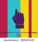 hand indicating the direction.... | Shutterstock .eps vector #589104149