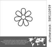 flower vector  icon. | Shutterstock .eps vector #589110959