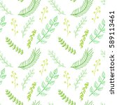 seamless pattern composed of... | Shutterstock .eps vector #589113461