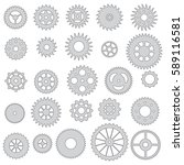 collection of gears  isolated... | Shutterstock .eps vector #589116581